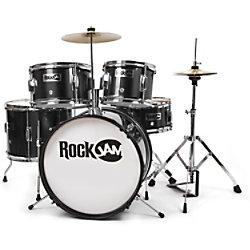 PDT Rockjam 5-teiliges Junior Schlagzeug Schwarz RJ105-BK