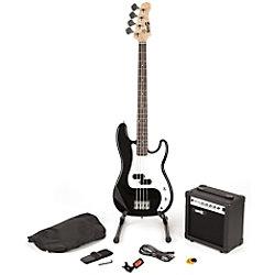 PDT RockJam Bassgitarre Super Kit - Schwarz RJBG01-SK-BK