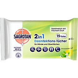 Sagrotan Zitronenblüten-Reinigungstücher 15 Stück 279297