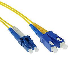 ACT 3 M LSZH Singlemode 9/125 OS2 Fiber Patchkabel Duplex mit LC und SC Steckern RL8903