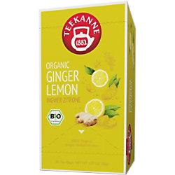 TEEKANNE Bio Ingwer Zitrone Tee Packung mit 20 Stück 63507