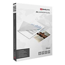 Monolith 81M0440001 Laminierfolien Glasklar 125 Mikron DIN A4 100 Stück