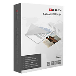 Monolith 81M0680007 Laminierfolien Glasklar 80 Mikron DIN A6 300 Stück