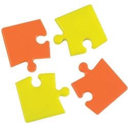 Bi-Office Whiteboard Magnete Puzzle Orange und Gelb 4 Stück IM246023