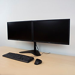 ewent Monitor-Tischständer für 2 Monitore bis zu 32