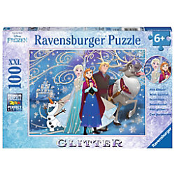 RAVENSBURGER Anna, Elsa, Olaf, Kristoff, Sven Disney's Frozen II Frozen, Frozen - Glitzernder Schnee 13610 Puzzle Deutsch