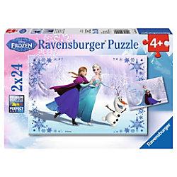 RAVENSBURGER Anna, Elsa, Olaf Disney's Frozen II Frozen, Schwestern für immer 9115 Puzzle Deutsch