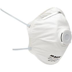 M-Safe Mundschutzmaske mit Ventil FFP2-V Einwegmaske Weiß 20 Stück 40562300