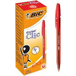 BIC Kugelschreiber Cristal Clic 0.4 mm Rot 20 Stück 850734