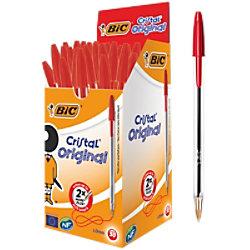 BIC Kugelschreiber Cristal 0.4 mm Rot 50 Stück 8373619