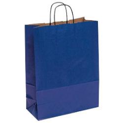 Vereinigte Papierwarenfabriken Papiertragetasche Toptwist Blau 32 x 42 cm 150 Stück 1FTTT006320