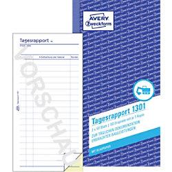 AVERY Zweckform Tagesrapport Weiß, Gelb 1301 105 x 200 mm Perforiert 2 à 50 Blatt