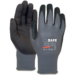 M-Safe Handschuhe Nitri-Tech Foam Nitril Größe XL Schwarz, Grau 1 Paar à 2 Handschuhe 11469010