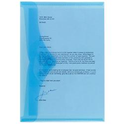 Office Depot Aufbewahrungstaschen DIN A4 Blau Polypropylen 5 Stück 1430581