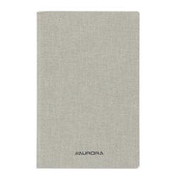 AURORA 145 x 220 mm Kartongebundenes Notizbuch mit weißem Leineneinband kariert 5 mm 96 Blatt 2396SQ5