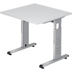 Hammerbacher Schreibtisch VOS08/W/W Weiß 800 x 800 x 650 mm