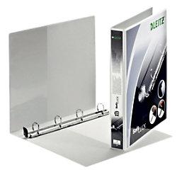 Leitz Präsentations-Ringbuch Pappe, Folie DIN A4+ 4 Ringe 20 mm Weiß 42000001