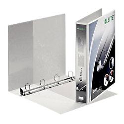 Leitz Präsentations-Ringbuch Pappe, Folie DIN A4+ 4 Ringe 30 mm Weiß 42020001