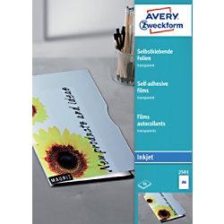 AVERY Zweckform Inkjet Folie 2501 A4 21 x 29,7 cm Transparent Rechteckig 50 Blatt