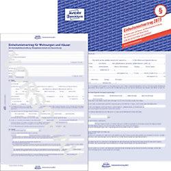 AVERY Zweckform Einheitsmietvertrag 2873 Blau DIN A4 Perforiert