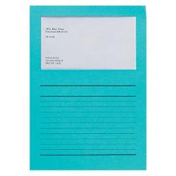 Elco Papiersichthüllen DIN A4 Intensiv Blau 120 g/m² Papier 100 Stück 29489.32