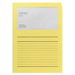 Elco Papiersichthüllen DIN A4 Gelb 120 g/m² Papier 100 Stück 29489.72