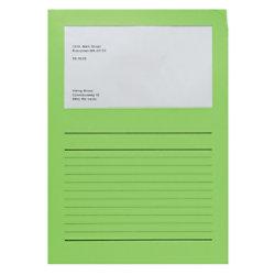Elco Papiersichthüllen DIN A4 Intensiv Grün 120 g/m² Papier 100 Stück 29489.62