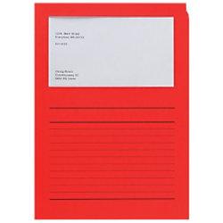 Elco Papiersichthüllen DIN A4 Rot 120 g/m² Papier 100 Stück 29489.92