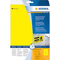 HERMA 8033 Strapazierfähige Signal-Schilder Gelb 25 Stück