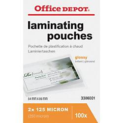 Office Depot Laminierfolien Glänzend 2 x 125 (250) Mikron ID Kreditkartenformat 100 Stück 3386001