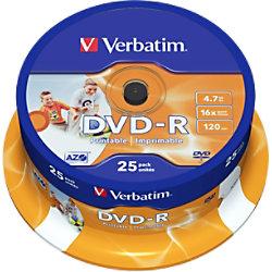 Verbatim DVD-R Bedruckbar 4.7 GB 25 Stück 43538