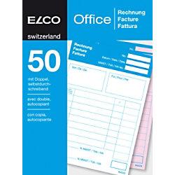 Elco Rechnungsformulare DIN A6 100 Blatt 74952.19