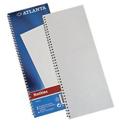Atlanta 330 x 135 mm Drahtgebundenes blaues Hardcover-Notizbuch Liniert 50 Blatt 2103012000