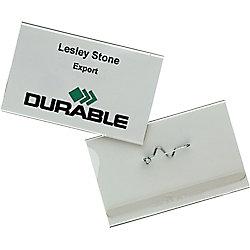 DURABLE Namensschild mit Pin 8604-19 37 x 200 mm 10 Stück