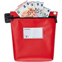 Val-U-Mail Sicherheitsgeldtasche 267 x 267 mm Zip Rot CB1R