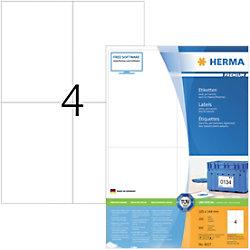 HERMA Adressetiketten 4627 Weiß DIN A4 105 x 148 mm 200 Blatt à 4 Etiketten