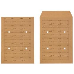 Unbranded Hausposttaschen B4 110 g/m² Braun Ohne Fenster Steckverschluss 250 Stück