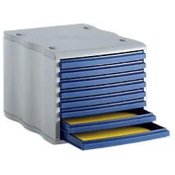 Styro Schubladenbox 8551 Polystyrol Blau, Grau 27 x 35,5 x 24 cm 248-8551.38
