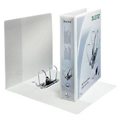 Leitz Präsentations-Ringbuch Graupappe, Folie DIN A4+ 2 Ringe 75 mm Weiß 42250001
