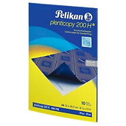 Pelikan 200H Durchschreibepapier DIN A4 28 g/m² 21 x 29,7 cm Blau 10 Blatt 434738