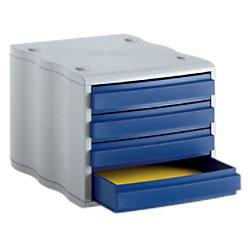 Styro Schubladenbox 8501 Polystyrol Blau, Grau 27 x 35,5 x 24 cm 248-8501.38