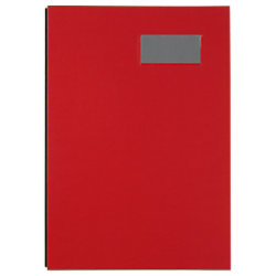 Biella Unterschriftsmappe 1 bis 20 DIN A4 Rot Laminiertes Papier, Karton 341420.45