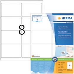 HERMA Adressetiketten 4269 Weiß DIN A4 99,1 x 67,7 mm 100 Blatt à 8 Etiketten