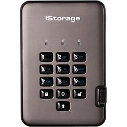 iStorage 500 GB Tragbare Verschlüsselte Festplatte diskAshur PRO2 USB 3.1 Schwarz, Graphit IS-DAP2-256-500-C-G