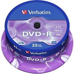 Verbatim DVD+R 4.7 GB 25 Stück 43500