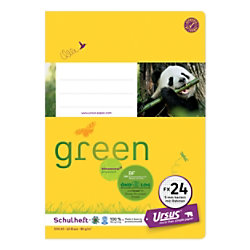 Ursus Green Ursus OE Schulheft OE.24 A5 40 Blatt 80g/qm 5mm kariert mit KR 4-A5/40