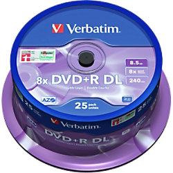 Verbatim DVD+R DL 8.5 GB 25 Stück 43757