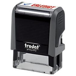 "Trodat Personalisierter Textstempel Office Printy 4912 ""Erledigt"" Schwarz, Grau 43271"