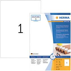 HERMA Wetterfeste Etiketten 4379 Weiß DIN A4 210 x 297 mm 100 Blatt à 1 Etikett