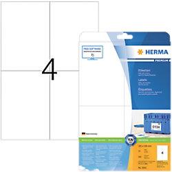 HERMA Adressetiketten 5063 Weiß DIN A4 105 x 148 mm 25 Blatt à 4 Etiketten